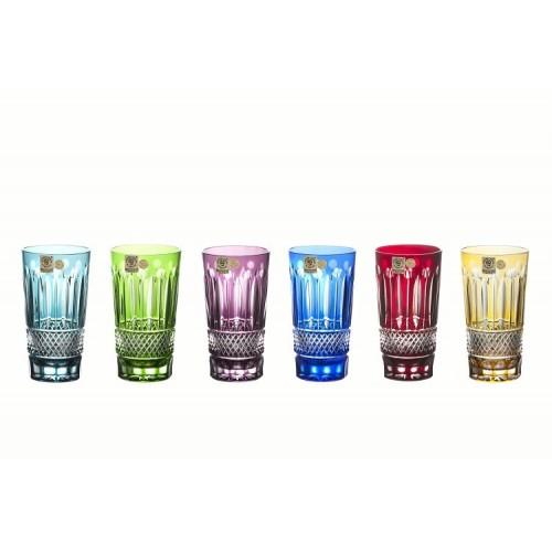 Krištáľový set pohár Tomy, farba mix farieb, objem 320 ml