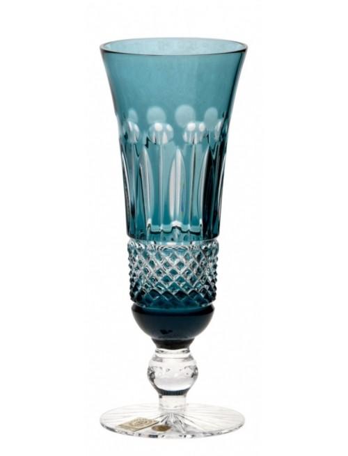 Krištáľová flauta Tomy, farba azúrová, objem 150 ml