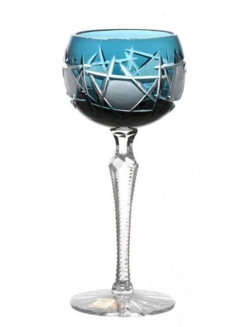 Krištáľový pohár na víno Mars, farba azúrová, objem 190 ml
