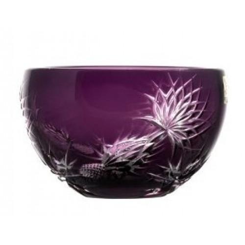 Krištáľová miska Thistle, farba fialová, priemer 140 mm