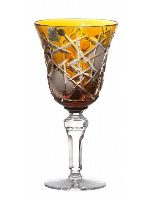 Krištáľový pohár na víno Mars, farba jantárová, objem 240 ml