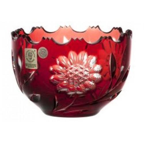 Krištáľová miska Garden, farba rubínová, priemer 110 mm