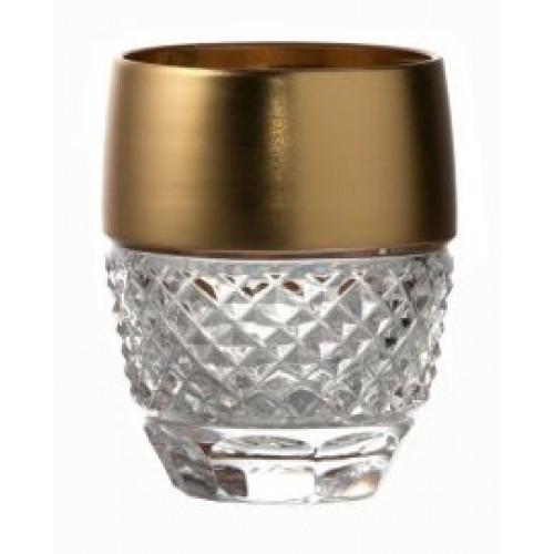 Krištáľový pohárik Zlato mat, farba číry krištáľ, objem 50 ml