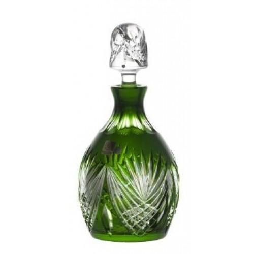 Krištáľová fľaša Janette, farba zelená, objem 700 ml