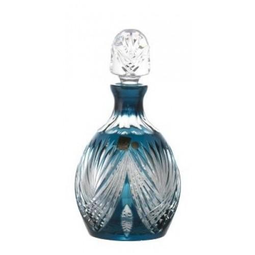 Krištáľová fľaša Janette, farba azúrová, objem 700 ml