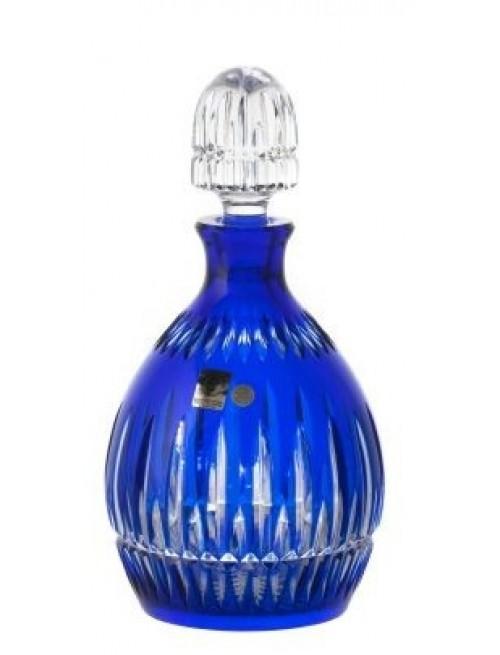 Krištáľová fľaša Thorn, farba modrá, objem 700 ml