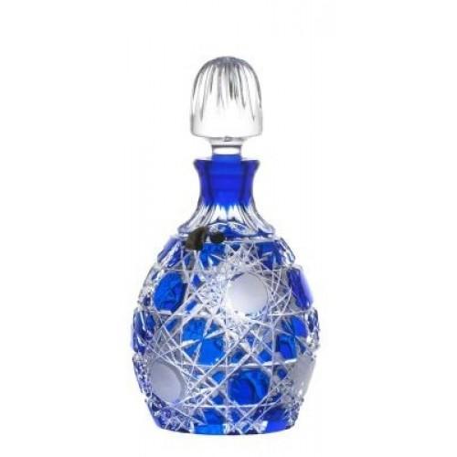 Krištáľová fľaša Flake, farba modrá, objem 700 ml