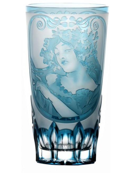 Krištáľový pohár Mucha, farba azúrová, objem 320 ml