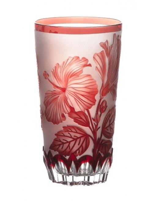 Krištáľový pohár Ibich, farba rubínová, objem 320 ml