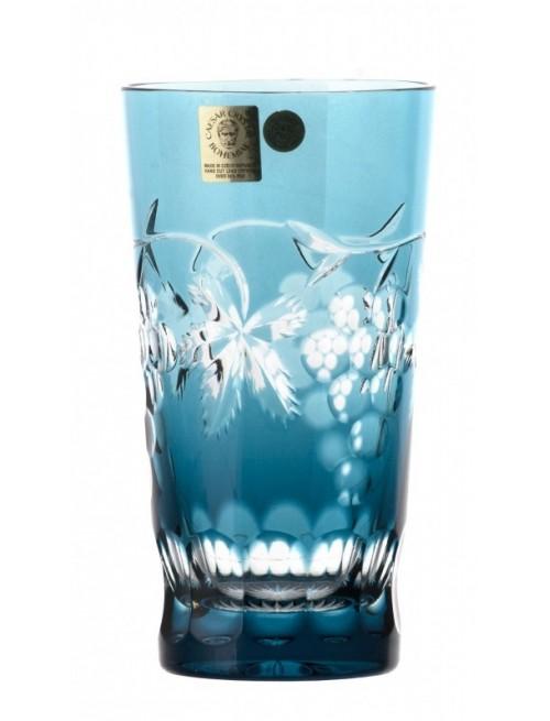 Krištáľový pohár Grapes, farba azúrová, objem 320 ml