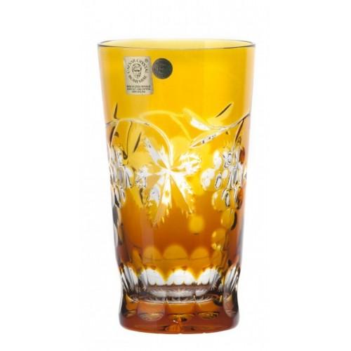 Krištáľový pohár Grapes, farba jantárová, objem 320 ml