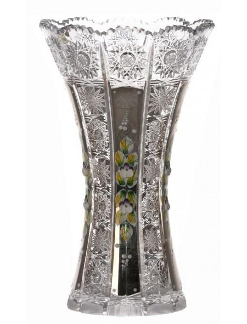 Krištáľová váza 500K Platina, farba číry krištáľ, výška 255 mm
