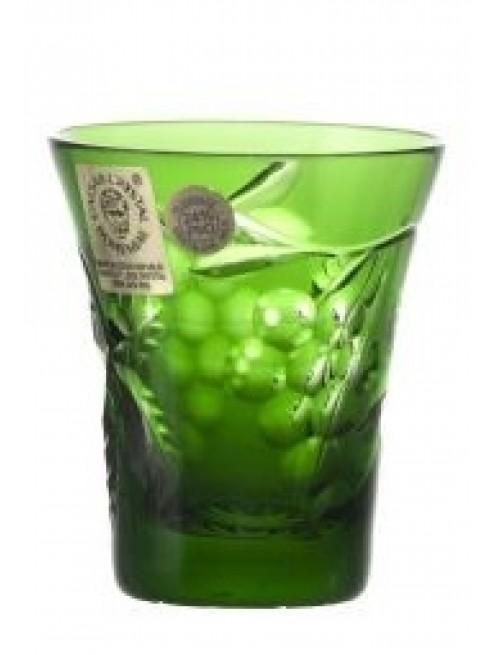 Krištáľový pohárik Grapes, farba zelená, objem 45 ml