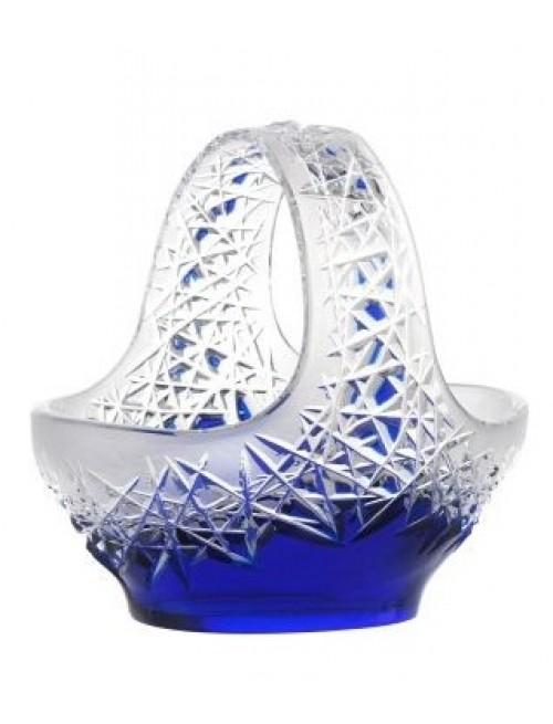 Krištáľový kôš Hoarfrost, farba modrá, priemer 230 mm