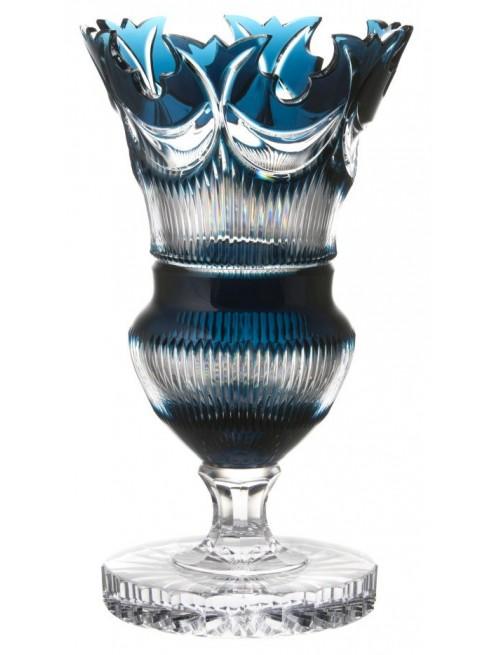 Krištáľová váza Diadem, farba azúrová, výška 410 mm