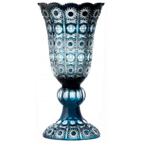 Krištáľová váza Petra, farba azúrová, výška 430 mm