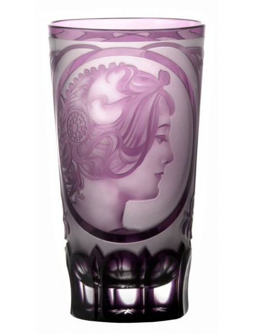 Krištáľový pohár Mucha, farba fialová, objem 320 ml