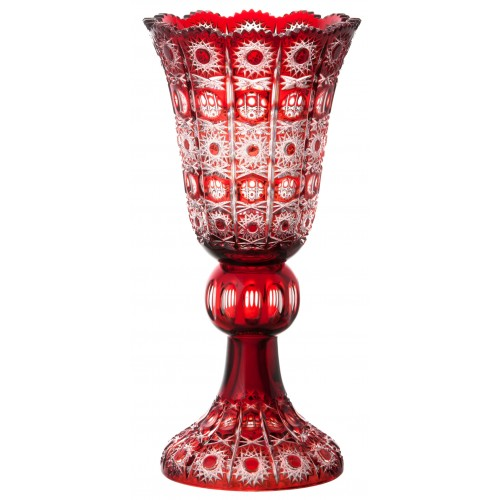 Krištáľová váza Petra, farba rubínová, výška 430 mm