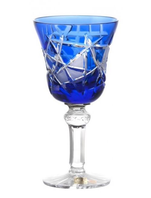 Krištáľový pohár na víno Mars, farba modrá, objem 180 ml