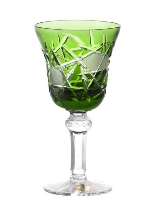 Krištáľový pohár na víno Mars, farba zelená, objem 180 ml