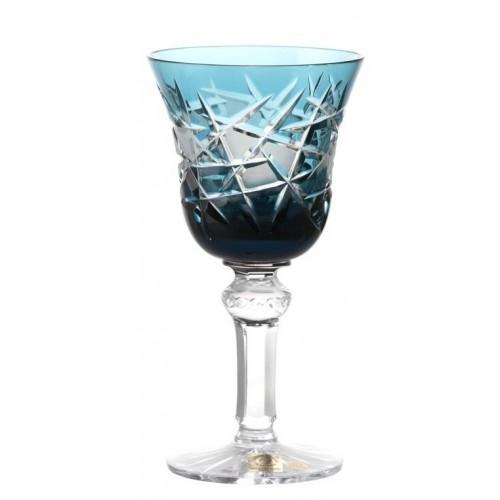 Krištáľový pohár na víno Mars, farba azúrová, objem 180 ml