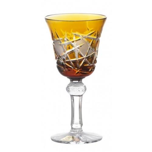 Krištáľový pohár na víno Mars, farba amber, objem 180 ml