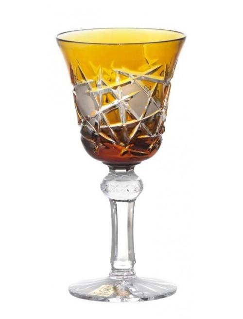 Krištáľový pohár na víno Mars, farba jantárová, objem 180 ml