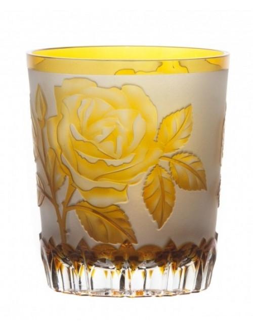 Krištáľový pohár Ruža, farba amber, objem 290 ml