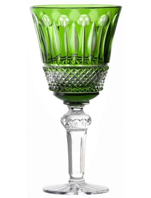 Krištáľový pohár na víno Tomy, farba zelená, objem 240 ml