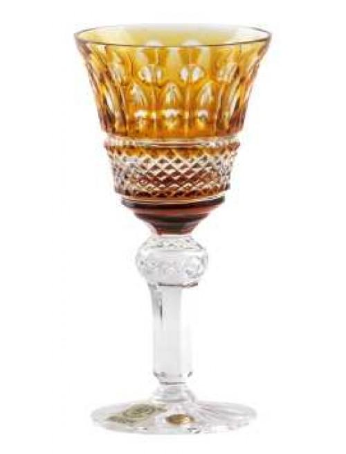 Krištáľový pohárik Tomy, farba jantárová, objem 50 ml