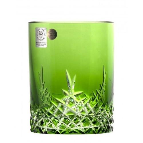 Krištáľový pohár New Milenium, farba zelená, objem 320 ml