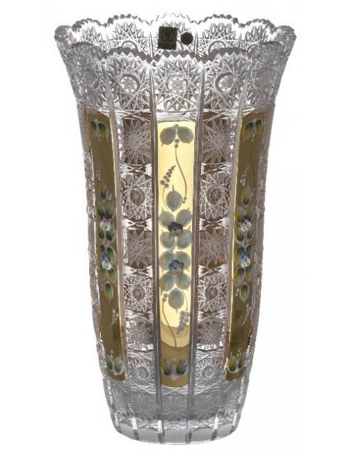 Krištáľová váza 500K Zlato, farba číry krištáľ, výška 310 mm