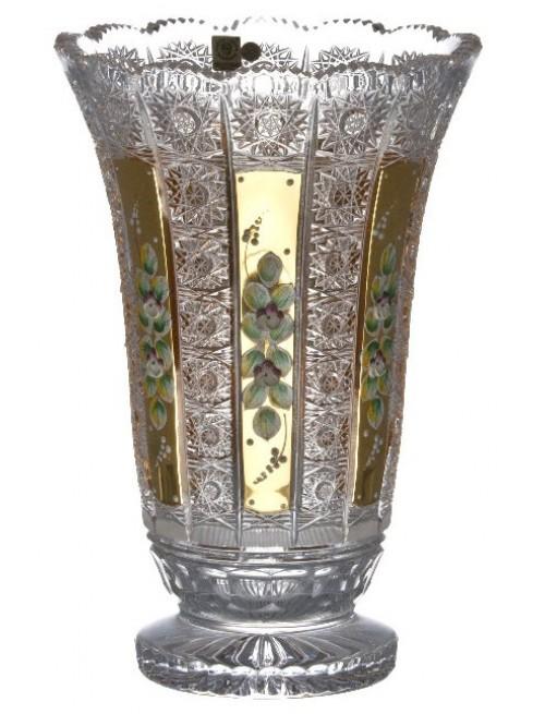 Krištáľová váza 500K Zlato, farba číry krištáľ, výška 305 mm