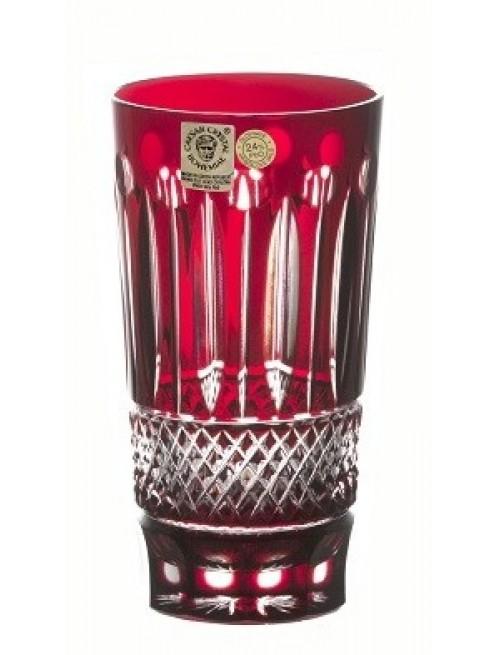 Krištáľový pohár Tomy, farba rubín, objem 320 ml