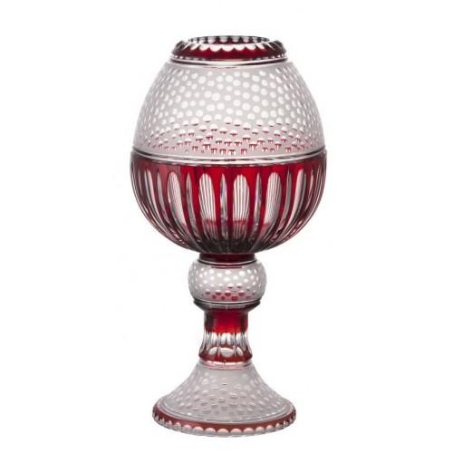 Krištáľová váza Dalmatín, farba rubínová, výška 510 mm
