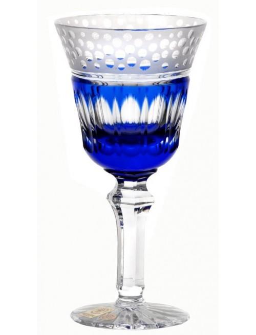 Krištáľový pohár na víno Dalmatin, farba modrá, objem 240 ml