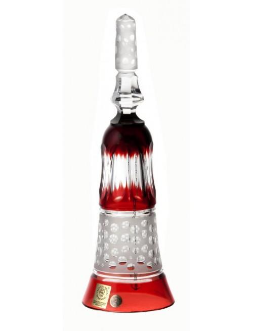 Krištáľový zvonček Dalmatin, farba rubín, výška 235 mm