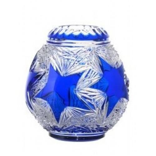 Krištáľová váza Stella, farba modrá, výška 135 mm