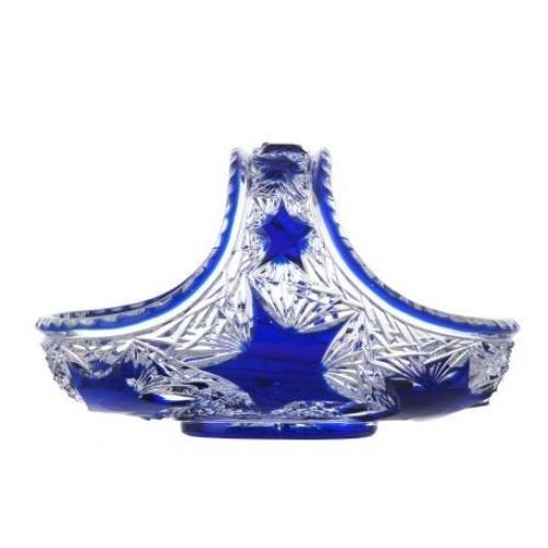 Krištáľový kôš Stella, farba modrá, priemer 230 mm