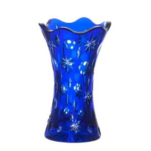 Krištáľová váza Lyra, farba modrá, výška 155 mm