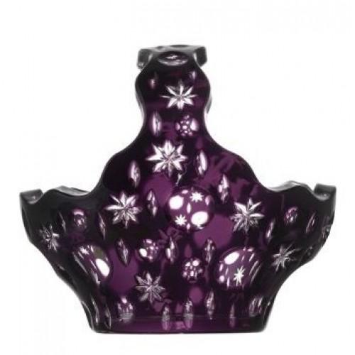 Krištáľový kôš Lyra, farba fialová, priemer 150 mm