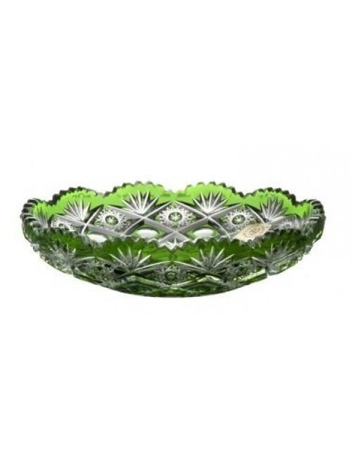 Krištáľový tanier Daniel, farba zelená, priemer 145 mm