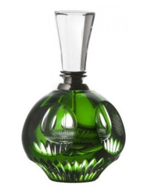 Krištáľový flakón Mirer, farba zelená, objem 20 ml