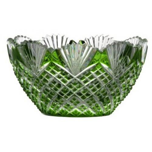 Krištáľová miska Pataya, farba zelená, priemer 118 mm