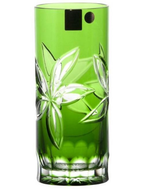 Krištáľový pohár Linda, farba zelená, objem 350 ml