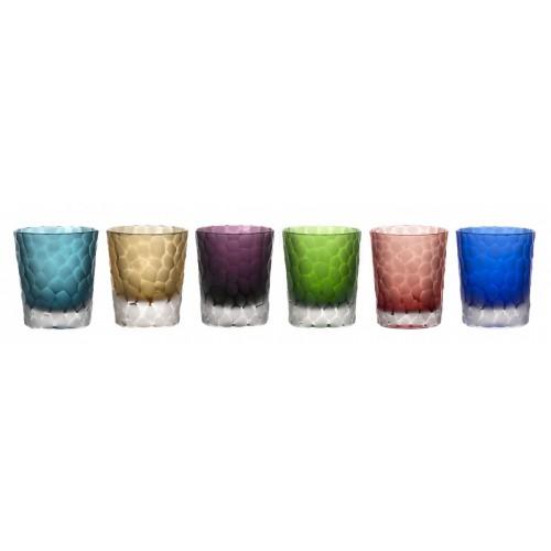 Set krištáľový pohár, farba mix farieb, objem 290 ml