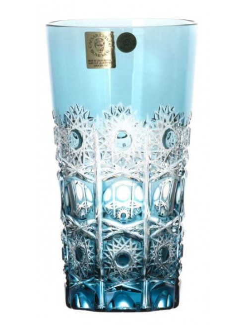 Krištáľový pohár Petra, farba azúrová, objem 320 ml