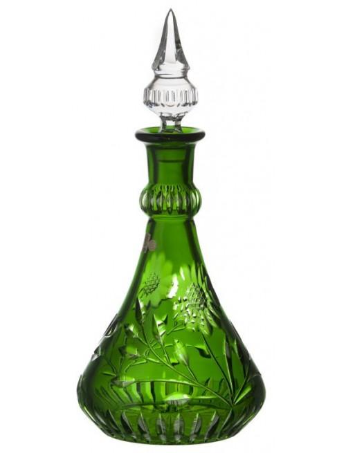 Krištáľová fľaša Garden, farba zelená, objem 1300 ml