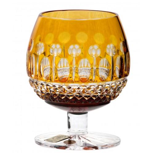 Krištáľový pohár Brandy Tomy, farba jantárová, objem 230 ml