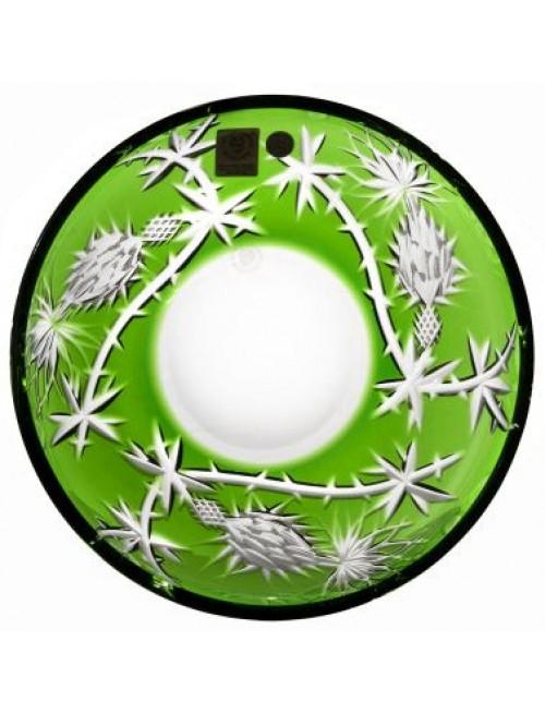 Krištáľový tanier Thistle, farba zelená, priemer 181 mm